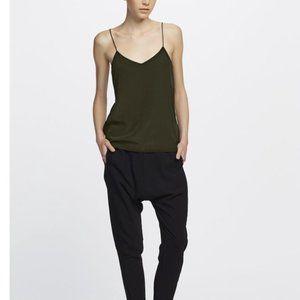 GINIA RTW | 'EVA' Olive Green Silk Cami~L